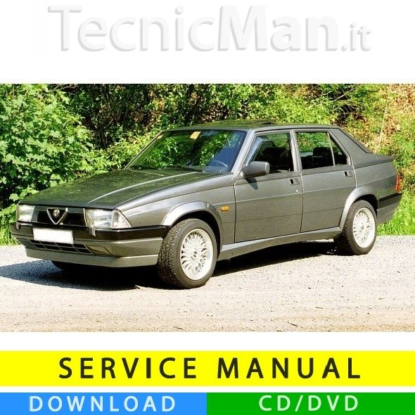 Manuale officina Alfa 75 (1985-1993) (EN)