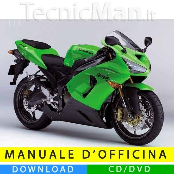 Manuale officina Kawasaki ZX-6R 636 (2005-2006) (IT)