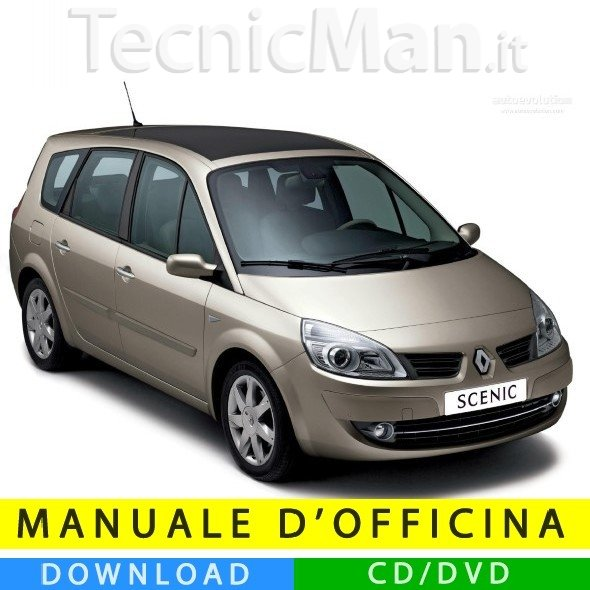 Manuale officina Renault Grand Scenic 2 (2003-2009) (IT)