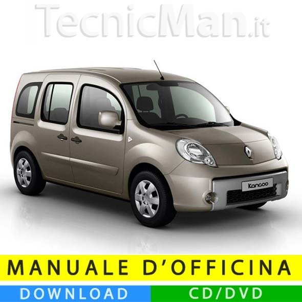 Manuale officina Renault Kangoo 2 (2007-2019) (EN-FR-ES)