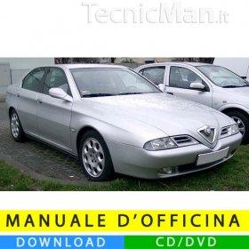 Manuale officina Alfa Romeo 166 (1998-2007) (Multilang)